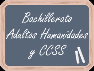 Matricular en Bachillerato Adultos Humanidades y CCSS