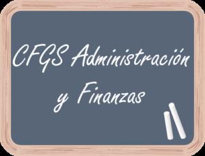 Matricular en CFGS Admón y Finanzas